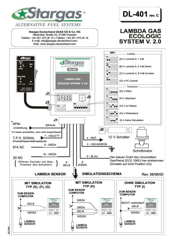 Schaltplan Autogasanlage